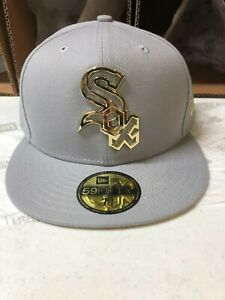 Chicago White Sox MLB New Era quot;Metal Framedquot; 59FIFTY Fitted Hat Gray