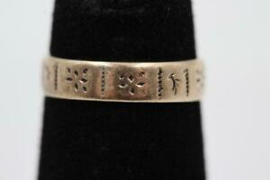 ANTIQUE VICTORIAN 10K SOLID GOLD FANCY ENGRAVED BABY INFANT CHILD SIZE 1.75 RING $49.99