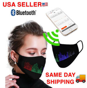 2020 LED Programmable Face Mask Custom Sign Free Fast Shipping From USA