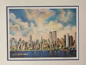 New York City Lithographs numbered and signed Double Matting multi colors $198.00