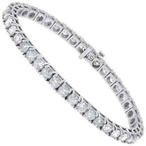 4 Carat Natural Diamond Tennis Bracelet 14K VS2 G H
