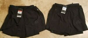 Nike Run Division 3 In 1 Mens Size Large Running Shorts Black CU5556 010 NWT $74.95