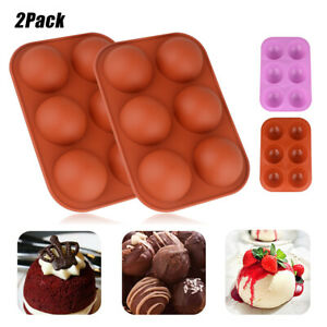 2Pack 6 Cups Silicone Cake Mold Hot Chocolate Bombs Mould Half Ball Sphere USA $8.90