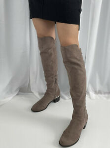 Guess Womens Boots Size 7.5 Knee High Over The Knee Suede Tan Taupe $39.99