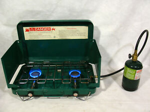 Vintage 2 TWO Burner Propane Stove with Hose