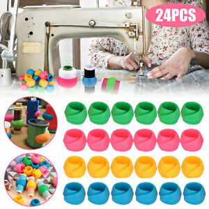 24Pcs Silicone Thread Spool Huggers Sewing Holder Bobbins Clip Clamp DIY Tool $9.98