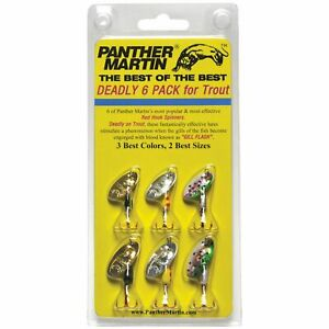 Panther Martin Best of the Best Trout Spinners ? 6 Pack
