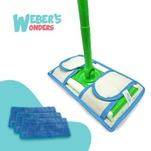 Set Of 2 Prime Mop Pads Washable Reusable Durable Works With Swiffer $8.39