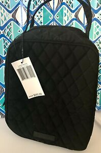 NWT Vera Bradley Iconic Lunch Bunch Bag Soft Case in Classic Black Microfiber $18.99
