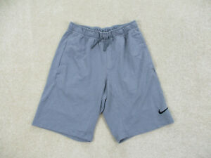 Nike Shorts Adult Small Gray Black Drifit Pro Training Swoosh Athletic Mens $18.88