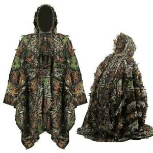 Forest Jungle Camouflage Clothing 3D Mens Ghillie Suit Hide Shooting Hunting US