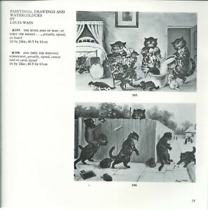 SOTHEBY'S Victorian Paintings Drawings Louis Wain Collection Cats in art Catalog $64.95
