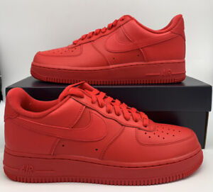 Nike Air Force 1 Retro 07 LV8 Low Triple Red Sneakers CW6999 600 Mens Size $109.97