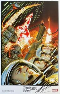 ALEX ROSS new FANTASTIC FOUR print SIGNED 2014 SDCC exclusive LAST ONE $69.99