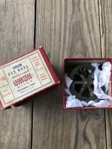 vintage fly reels union 1940 50 with box