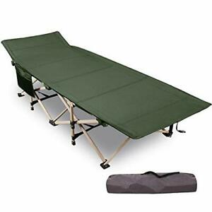 Folding Camping Cots for Adults Heavy Duty 28quot; Green Heavy Duty 75quot;x28quot;
