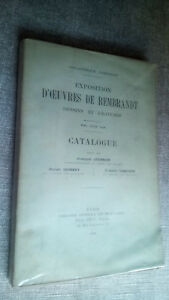 Display Of Works Of Rembrandt Drawings And Prints May June 1908 Catalogue $25.07