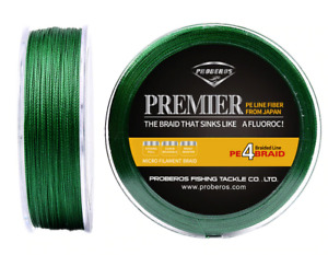 Fishing Braided Line Green Floating Wire 500M 4 Weaves Outdoor Sporting Goods