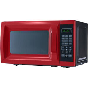 Mainstays 0.7 Cu. Ft. 700W Red Microwave with 10 Power Levels $39.99