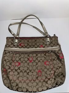 Coach Purse Tan and Pink