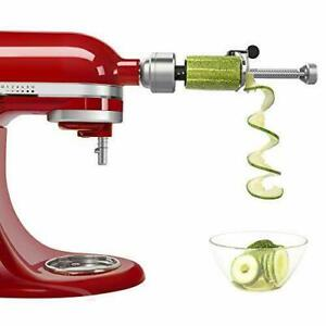 Spiralizer Attachment Stand Mixer Peel Core Slice Vegetable Slicer 7 Blades $107.86
