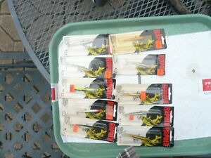 LOT OF 10 RAPALA ICE FISHING lt;JIGGINGgt; MINNOWS ALL NOS W 7 MINT IN PACK FINLAND