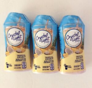 3 Bottles Crystal Light Liquid Tropical Coconut Drink Mix 1.62 oz Bottle $12.00