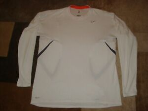 Nike Fit Dry Semi Compression Long Sleeve White Shirt Mens XL $18.00