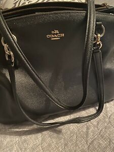 coach handbags used large pre owned black