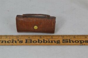 old sewing kit leather suitcase purse shape contents dates 1890 1900 original vg $49.00