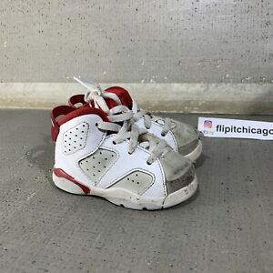 nike air jordan 6 alternate 91 maroon red toddler baby shoes 5c 384667 113 $12.30