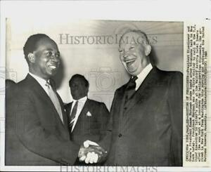 1960 Press Photo Presidents Dwight Eisenhower amp; Kwame Nkrumah at a meeting in NY