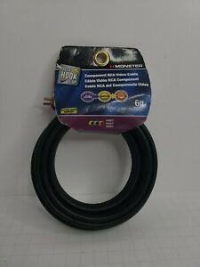 Monster RCA Video Cable Component DVD Cable 6 Feet NEW Just Hook It Up 1.8m $11.99