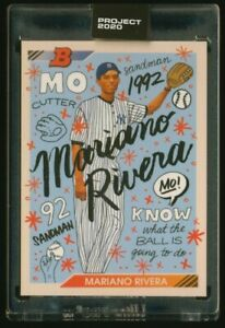 Topps PROJECT 2020 MARIANO RIVERA by Sophia Chang card 8 IN HAND $268.20