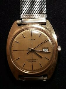 Vintage TIMEX Watch Stainless Steel Automatic Winding amp; Water Resistant WORKING