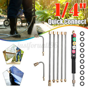 High Pressure Washer Gutter Cleaner Attachment Wand Lance Quick Connect 4000 PSI $37.99