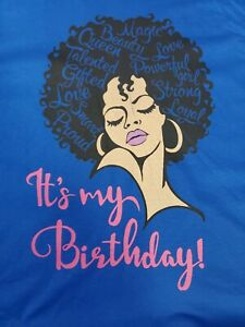 Graphic T Shirt ITS MY BIRTHDAY  Fruit of the Loom XL $10.99