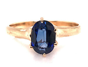 Vintage Sapphire Engagement Ring 1.05 Carat Oval Antique Victorian 14K