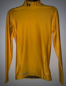 Under Armour Cold Gear Mock Compression Top Shirt Size Medium Yellow 1221708 $19.99