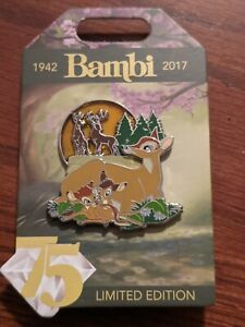 Disney 75th Anniversary 2017 Bambi Faline and Twins Pin LE 3000 $40.00