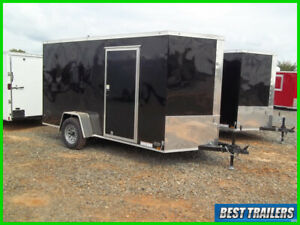2020 Diamond Cargo 6 x 12 black enclosed trailer single axle cargo basic