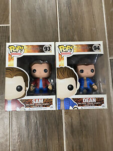 Funko Pop Television # 93 amp; #94 SUPERNATURAL Dean And Sam Winchester Set