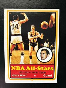 1973 74 TOPPS BASKETBALL CARD #100 JERRY WEST LA LAKERS $30.00