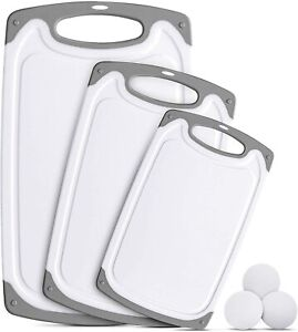 Plastic Cutting Board Set of 3 BPA Free Kitchen Cutting Boards Dishwasher Safe $24.99