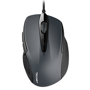 TECKNET 6 Button USB Wired Mouse with Side Buttons Optical Computer Mouse