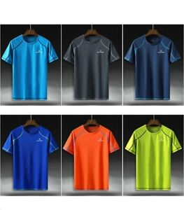 Mans Running T shirts Professional Quick Dry Breathable Camping Hiking Singlet $24.99