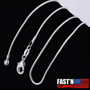 10PCS wholesale 925 sterling solid silver 1.5MM snake chain necklace accessories $4.49