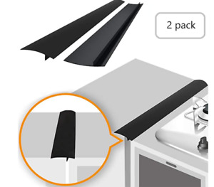 2Pcs Silicone Gap Cover Kitchen Stove Counter Gap Covers Stove Space Fillers