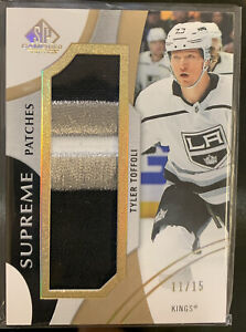 2019 20 UD SP Game Used #PA TT Tyler Toffoli Jersey Patch Game Used #11 15