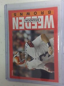 2013 Topps Archives *Box Bottoms* BRANDON WEEDEN Browns Oklahoma State Rookie RC $2.99